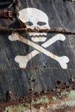 Σκάφος πειρατών με το κρανίο 4 Στοκ Εικόνα