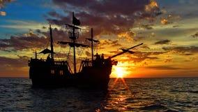 Σκάφος πειρατών στην καραϊβική θάλασσα στοκ φωτογραφία