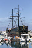 Σκάφος πειρατών τουριστών Στοκ εικόνες με δικαίωμα ελεύθερης χρήσης