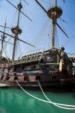 Σκάφος πειρατών του IL Galeone Ποσειδώνας στη Γένοβα, Ιταλία Στοκ Εικόνα