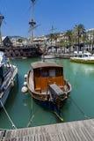 Σκάφος πειρατών του IL Galeone Ποσειδώνας στη Γένοβα, Ιταλία Στοκ φωτογραφίες με δικαίωμα ελεύθερης χρήσης