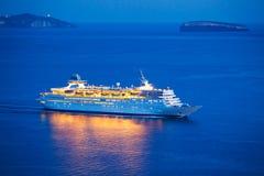 σκάφος πολυτέλειας κρουαζιέρας Στοκ εικόνα με δικαίωμα ελεύθερης χρήσης