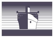 Σκάφος που πλέει την απλή απεικόνιση Στοκ εικόνες με δικαίωμα ελεύθερης χρήσης