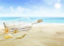 Σκάφος σε ένα μπουκάλι στοκ φωτογραφία