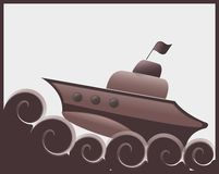 Σκάφος σοκολάτας Στοκ εικόνα με δικαίωμα ελεύθερης χρήσης
