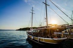 Σκάφος στη θάλασσα Στοκ Εικόνα