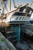 Σκάφος στις επιδιορθώσεις στοκ εικόνες