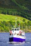 Σκάφος στο Λοχ Νες στη Σκωτία Στοκ Εικόνες