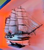 Σκάφος στο πανί στοκ εικόνα