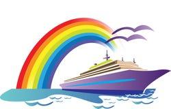 σκάφος ταξιδιών διανυσματική απεικόνιση