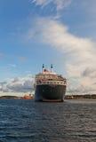 Σκάφος της γραμμής άφιξης Queen Mary 2 στο Stavanger, Νορβηγία Στοκ Φωτογραφίες