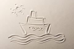 σκάφος της γραμμής κρου&alpha Στοκ Εικόνα