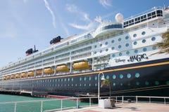 Σκάφος της γραμμής Disney κρουαζιέρας μαγική στη Key West, Φλώριδα Στοκ Εικόνα