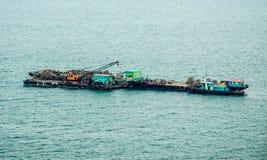 Σκάφος του εξοπλισμού κατασκευής Στοκ Εικόνες
