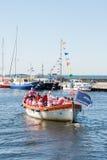 σκάφος τραγουδιών μελών χορωδιών Στοκ φωτογραφία με δικαίωμα ελεύθερης χρήσης