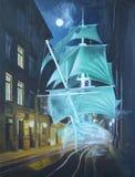 Σκάφος φαντασμάτων στοκ εικόνες