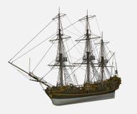 Σκάφος Licorne - τρισδιάστατο δώστε Στοκ φωτογραφίες με δικαίωμα ελεύθερης χρήσης