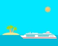 σκάφος luminosa κρουαζιέρας πλευρών Στοκ Εικόνες