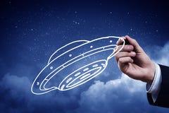 Σκάφος UFO Στοκ φωτογραφία με δικαίωμα ελεύθερης χρήσης