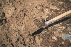 Σκάψτε ένα φτυάρι κήπων Κηπουρική Εκλεκτική εστίαση στοκ φωτογραφία με δικαίωμα ελεύθερης χρήσης