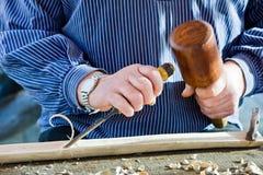 Σκάψτε το εργαλείο ξυλουργών ξύλινων σμιλών. στοκ φωτογραφίες με δικαίωμα ελεύθερης χρήσης