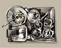 σκάψτε το μεσημεριανό γεύ& Στοκ φωτογραφία με δικαίωμα ελεύθερης χρήσης