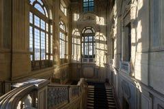 Σκάλα ενός μπαρόκ παλατιού ιταλικά στοκ φωτογραφίες