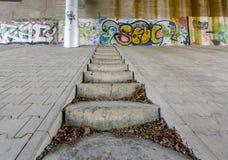 Σκάλα και γκράφιτι Στοκ Εικόνα