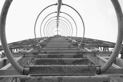 Σκάλα και προστατευτικό κιγκλίδωμα Στοκ Εικόνες