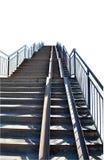 Σκάλα με τα βήματα πετρών σε ένα άσπρο υπόβαθρο Στοκ Φωτογραφία