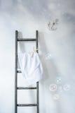 Σκάλα με την πετσέτα Στοκ εικόνα με δικαίωμα ελεύθερης χρήσης