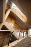 Σκάλα με το κιγκλίδωμα Στοκ εικόνες με δικαίωμα ελεύθερης χρήσης