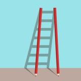 Σκάλα μολυβιών της επιτυχίας ελεύθερη απεικόνιση δικαιώματος