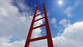 Σκάλα που παρουσιάζει τη διάβαση στην κορυφή που γίνεται στο lumion διανυσματική απεικόνιση