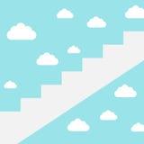 Σκάλα σταδιοδρομίας στα σύννεφα ελεύθερη απεικόνιση δικαιώματος