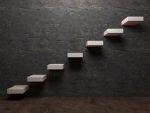 Σκάλα στην προοπτική εσωτερικού επιτυχίας Στοκ Φωτογραφίες