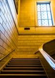 Σκάλα στο National Gallery της τέχνης, Ουάσιγκτον, συνεχές ρεύμα Στοκ φωτογραφίες με δικαίωμα ελεύθερης χρήσης