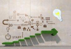 Σκάλα της επιτυχίας και του επιτεύγματος Μικτά μέσα Στοκ Εικόνες