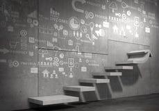 Σκάλα της επιτυχίας και του επιτεύγματος Μικτά μέσα Στοκ Φωτογραφία