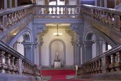 Σκάλα του ιστορικού Palazzo Arese Litta στο Μιλάνο Στοκ Εικόνες