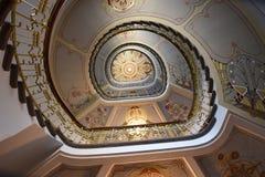 Σκάλα Nouveau τέχνης Στοκ εικόνα με δικαίωμα ελεύθερης χρήσης