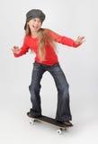 σκέιτερ κοριτσιών Στοκ φωτογραφία με δικαίωμα ελεύθερης χρήσης