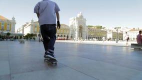 Σκέιτερ στη Λισσαβώνα απόθεμα βίντεο