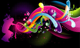 σκέιτερ σύνθεσης χρώματο&sig διανυσματική απεικόνιση