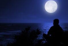 σκέψεις νύχτας στοκ φωτογραφία