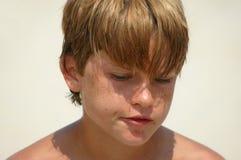 σκέψη αγοριών Στοκ Φωτογραφίες