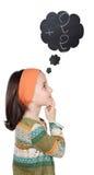 σκέψη αριθμών κοριτσιών Στοκ φωτογραφία με δικαίωμα ελεύθερης χρήσης