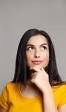 Σκέψη γυναικών Σκεπτικό κορίτσι εφήβων Στοκ εικόνα με δικαίωμα ελεύθερης χρήσης