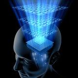 σκέψη εγκεφάλου ΚΜΕ Στοκ φωτογραφίες με δικαίωμα ελεύθερης χρήσης