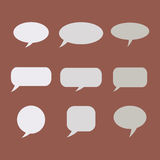 Σκέψη, λεκτική φυσαλίδα Σύννεφο ονείρου Μπαλόνι συζήτησης Κιβώτιο αποσπάσματος Στοκ εικόνες με δικαίωμα ελεύθερης χρήσης